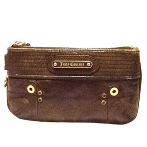 Juicy Couture Leather wristlet in Olive Green